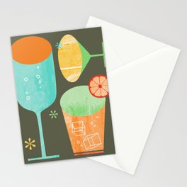 Pour & Drink Kitchen or Bar Art Stationery Cards