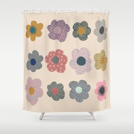 Patterned Flowers Shower Curtain