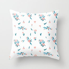 Floral Pattern II Throw Pillow