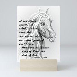 White Horse of a King Mini Art Print