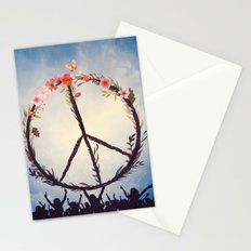 Music and Peace Stationery Cards