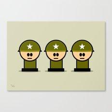 Three Little Soldiers Military Art, Military Wall Art for Boys Room Nursery Decor Canvas Print