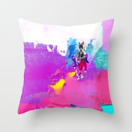 polo abstract Throw Pillow