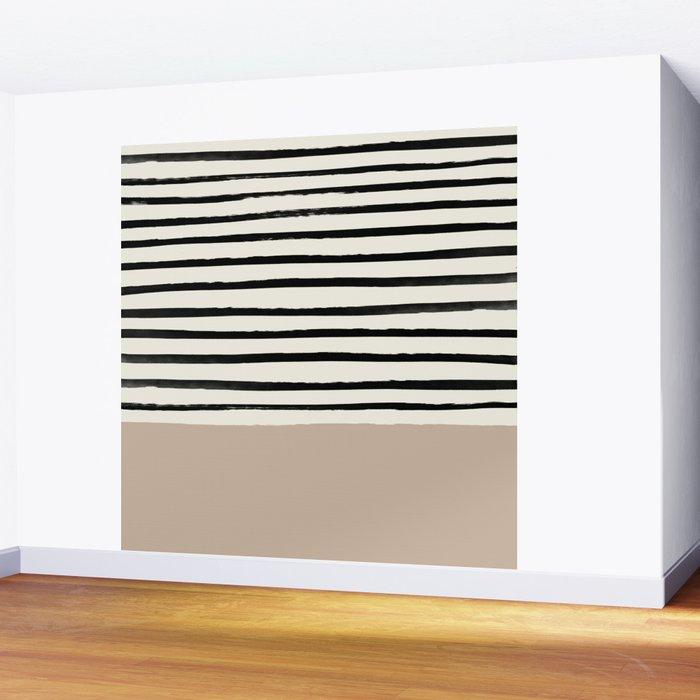 Latte & Stripes Wall Mural