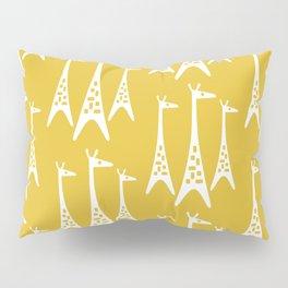 Mid Century Modern Giraffe Pattern 221 Mustard Yellow Pillow Sham