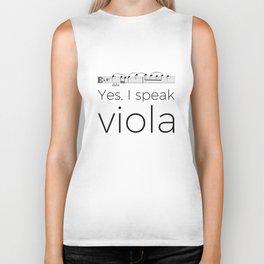 I speak viola Biker Tank