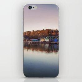 Dawn at the lake iPhone Skin