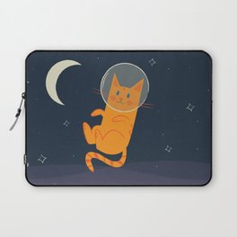 Floating Space Cat Laptop Sleeve
