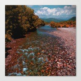 Autumn mountain river #photography #landscape Canvas Print