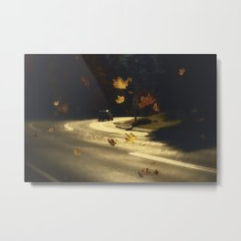 Autumn shower! Take me with you away from a dreadful winter! Metal Print