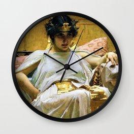 John William Waterhouse - Cleopatra - Digital Remastered Edition Wall Clock