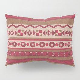 Traditional Geometric- Red Pillow Sham