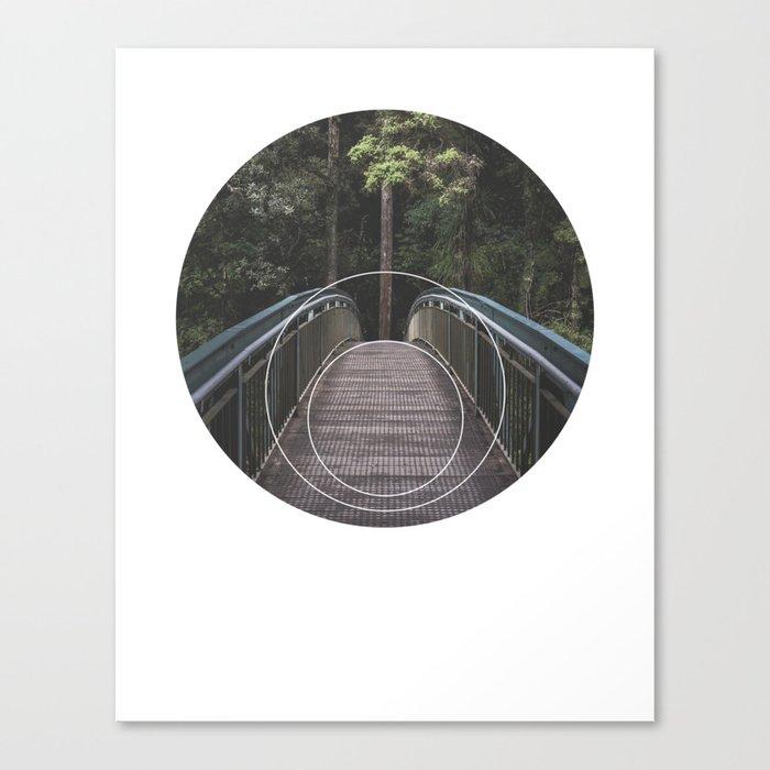 Circular Bridge - Geometric Photography Canvas Print