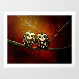 Owlets Art Print