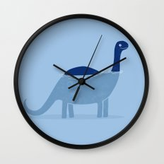bathing dino Wall Clock