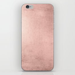 Blush Rose Gold Ombre  iPhone Skin