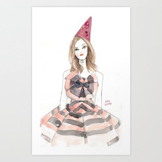 Christian Lacroix for Schiaparelli Fashion Illustration Art Print