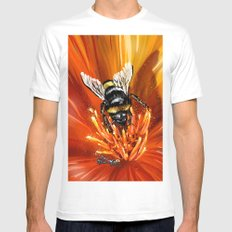 Bee on flower 1 MEDIUM Mens Fitted Tee White