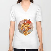 kit king V-neck T-shirts featuring Monkey King by Kit Seaton