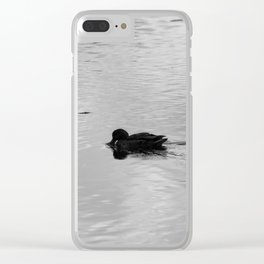 Duck reflection Clear iPhone Case