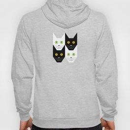 Black cat, white cat Hoody