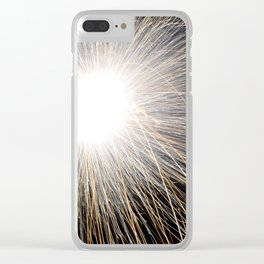 fire work Clear iPhone Case