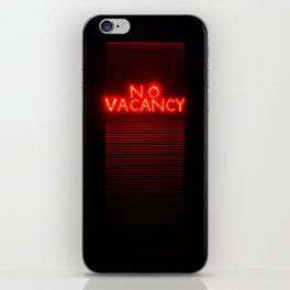 No Vacancy sign in red iPhone Skin