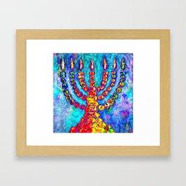Temple Menorah Framed Art Print