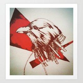 Mechanical Raven Art Print