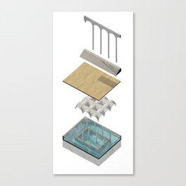 Bathhouse Axonometric Canvas Print