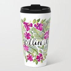 Killin' It – Tropical Pink Metal Travel Mug