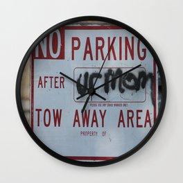 Tow Away Area Wall Clock