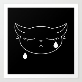 So Sad Kitty Art Print