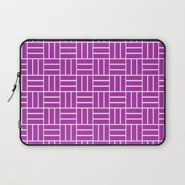 Basketweave (White & Purple Pattern) Laptop Sleeve