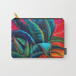 DECORATIVE  BLUE DESERT AGAVE RED DAWN DESIGN Carry-All Pouch