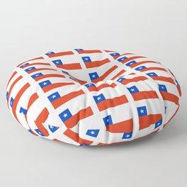 Flag of Chile 3-Spanish,Chile,chilean,chileno,chilena,Santiago,Valparaiso,Andes,Neruda. Floor Pillow