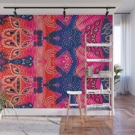 Coral Pink Boho Wall Mural