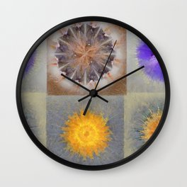 Sarcophagi Woof Flowers  ID:16165-112239-34720 Wall Clock