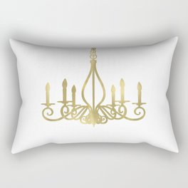 Gold Glam Chic Chandelier Rectangular Pillow