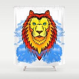Lion's Grace Shower Curtain