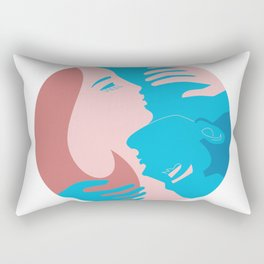 He and She Unity Emblem, Yin and Yang Rectangular Pillow