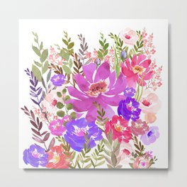 Summer Garden with Wild Flowers Metal Print