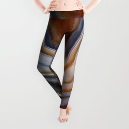 Layered agate geode 3163 Leggings