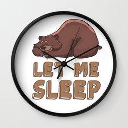 Let me sleep Wall Clock