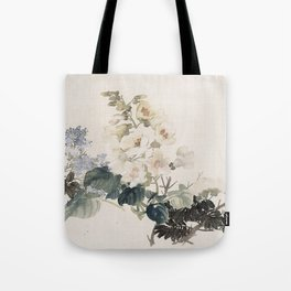 Vintage Chinese Ink and Brush Painting and Calligraphy Tote Bag