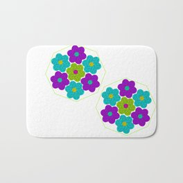 Flower Segments Bath Mat