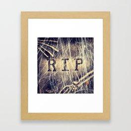 Signs: RIP Framed Art Print