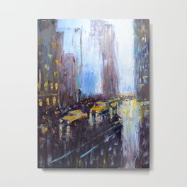Night New York Metal Print