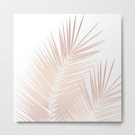 Rose Gold Palm Leaves Dream - Cali Summer Vibes #1 #tropical #decor #art #society6 Metal Print