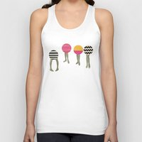 feet Tank Tops featuring Dancing Feet by Cassia Beck